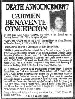 Carmen B. Concepcion