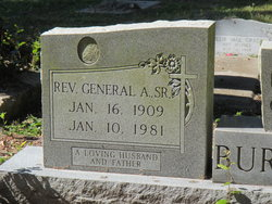 Rev General A Burkett, Sr