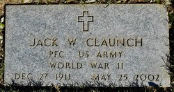 Pfc Jack W Claunch