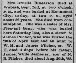 Rosetta Drusilla <i>Pilcher</i> Rinearson
