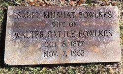 Isabel <i>Mushat</i> Fowlkes