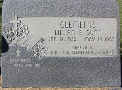 Lillian Elsie <i>Dunn</i> Clements