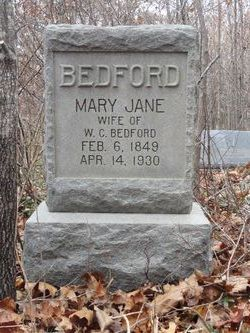 Mary Jane <i>Ellis</i> Bedford