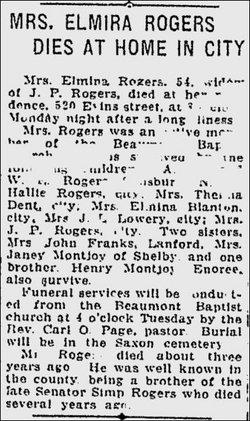 Elmina <i>Montjoy</i> Rogers