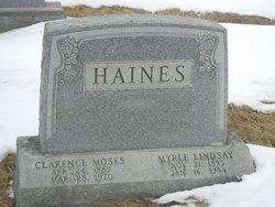 Myrle <i>Lindsay</i> Haines