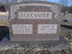 Mary R <i>Ledgerwood</i> Alexander