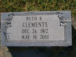 Ruth Mae Ruthie Mae <i>Kemp</i> Clements