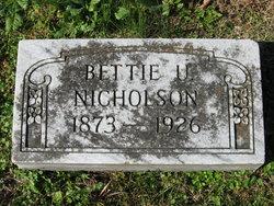 Bettie <i>Underwood</i> Nicholson