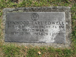 Pvt Lynwood Earl Lowell