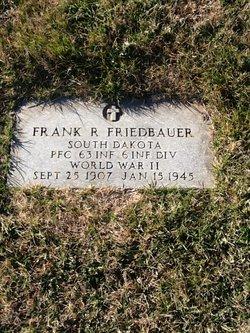PFC Frank R Friedbauer