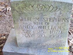 Sallie M <i>Stephens</i> Williams