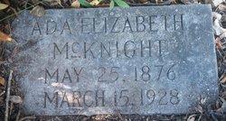 Ada Elizabeth <i>Chambers</i> McKnight