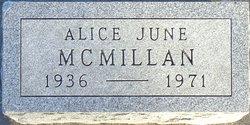 Alice June McMillan