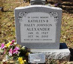 Kathleen <i>Haley</i> Alexander