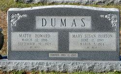 Mary Susan <i>Horton</i> Dumas