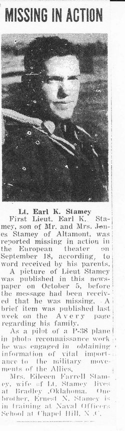 Lieut Earl Kay Stamey