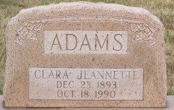 Clara Jeanette Nettie <i>Likens</i> Adams