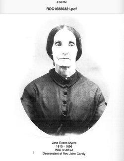 Jane Jones <i>Evans</i> Myers