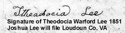 Theodosia <i>Warford</i> Lee