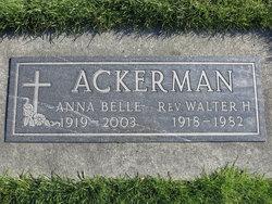 Anna Belle <i>De Vries</i> Ackerman