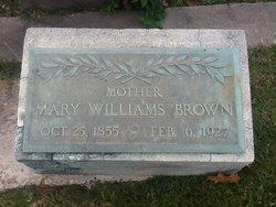 Mary Williams <i>Johnson</i> Brown
