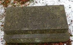 Annie Hichborn <i>Anderson</i> Lord