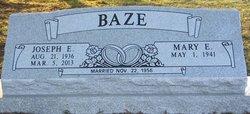 Rev Joseph Edward Bud Baze