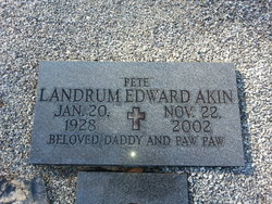 Landrum Edward Pete Akin