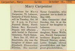 Mary <i>Newton</i> Carpenter