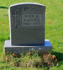 Alice A <i>Dorman</i> Parsons