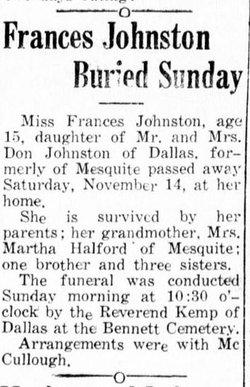 Margaret Francis Johnston