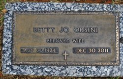 Betty Jo <i>Whiteley</i> Orsini