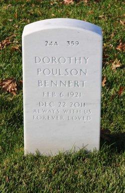 Dorothy <i>Poulson</i> Bennert