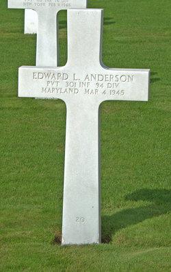 Pvt Edward L Anderson