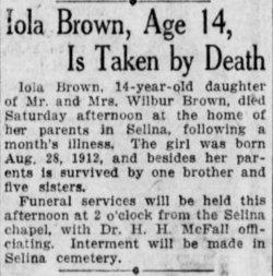 Iola Idela Brown