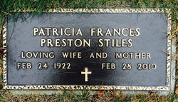 Patricia Frances <i>Preston</i> Stiles