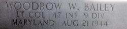 LtCol Woodrow Wilson Bailey