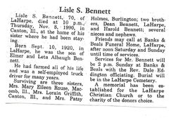 Lisle Sidney Bennett