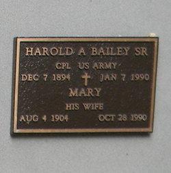 Harold A Bailey, Sr