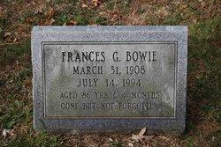 Frances G. Bowie