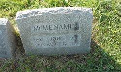 Alice G <i>McAllister</i> McMenamin