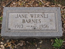 Jane <i>Wernli</i> Barnes