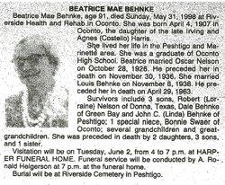 Beatrice Mae <i>Harris</i> Behnke