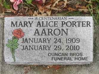 Mary Alice Pie <i>Porter</i> Aaron