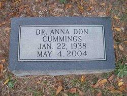 Dr Anna <i>Don</i> Cummings