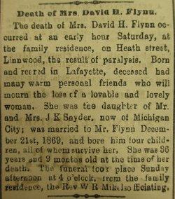 Clara A. <i>Snyder</i> Flynn