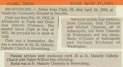 Zelma Irene <i>Clements</i> Clark