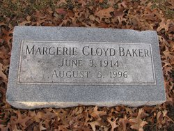 Margerie (Marjie) Marceline <i>Cloyd</i> Baker