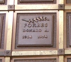 Donald A Forbes
