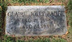 Claire Clara <i>Jolly</i> Bailey